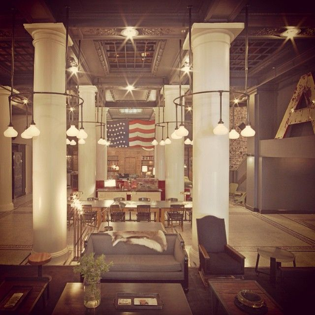 Day 22: Everything #NYC this week. #AcehotelNYC surplus and salvage furnishings #vintage.