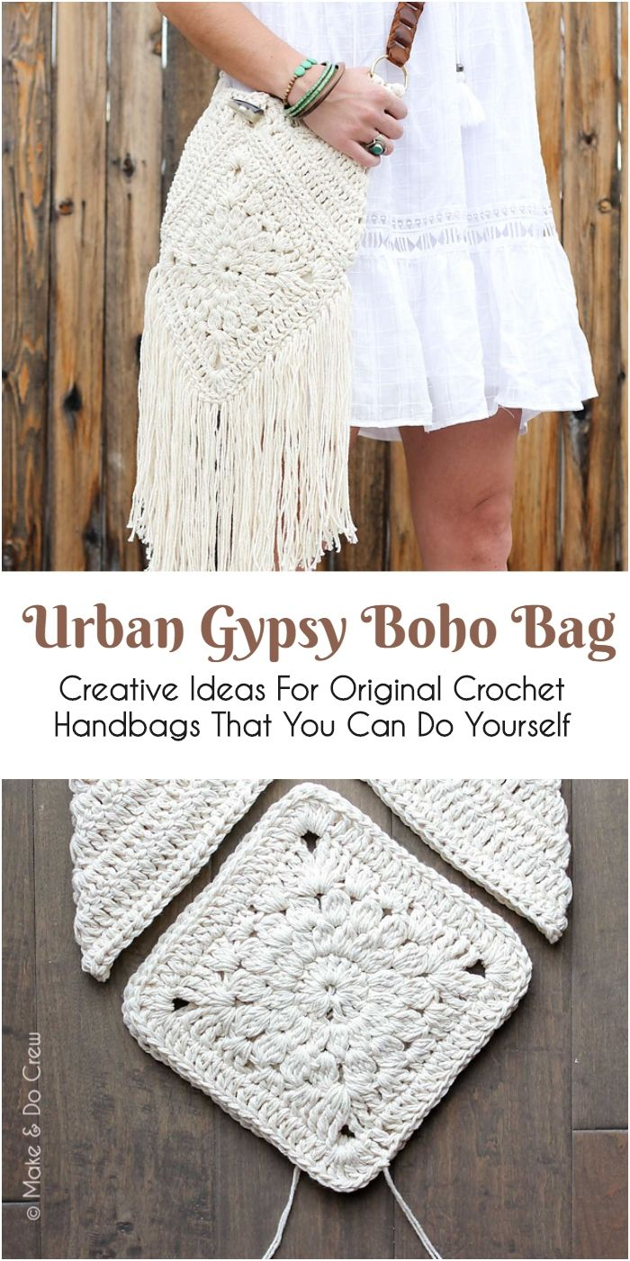 Creative Ideas For Original Crochet Handbags That You Can Do ...