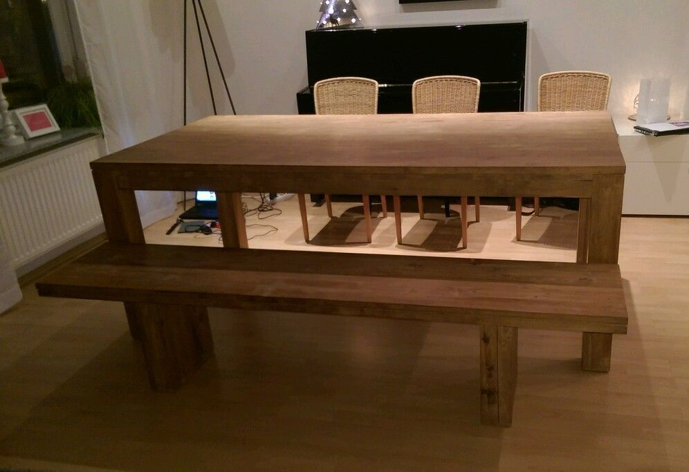 esstisch und bank aus teakholz ::: in möbel & wohnen, möbel, tisch, Esstisch ideennn