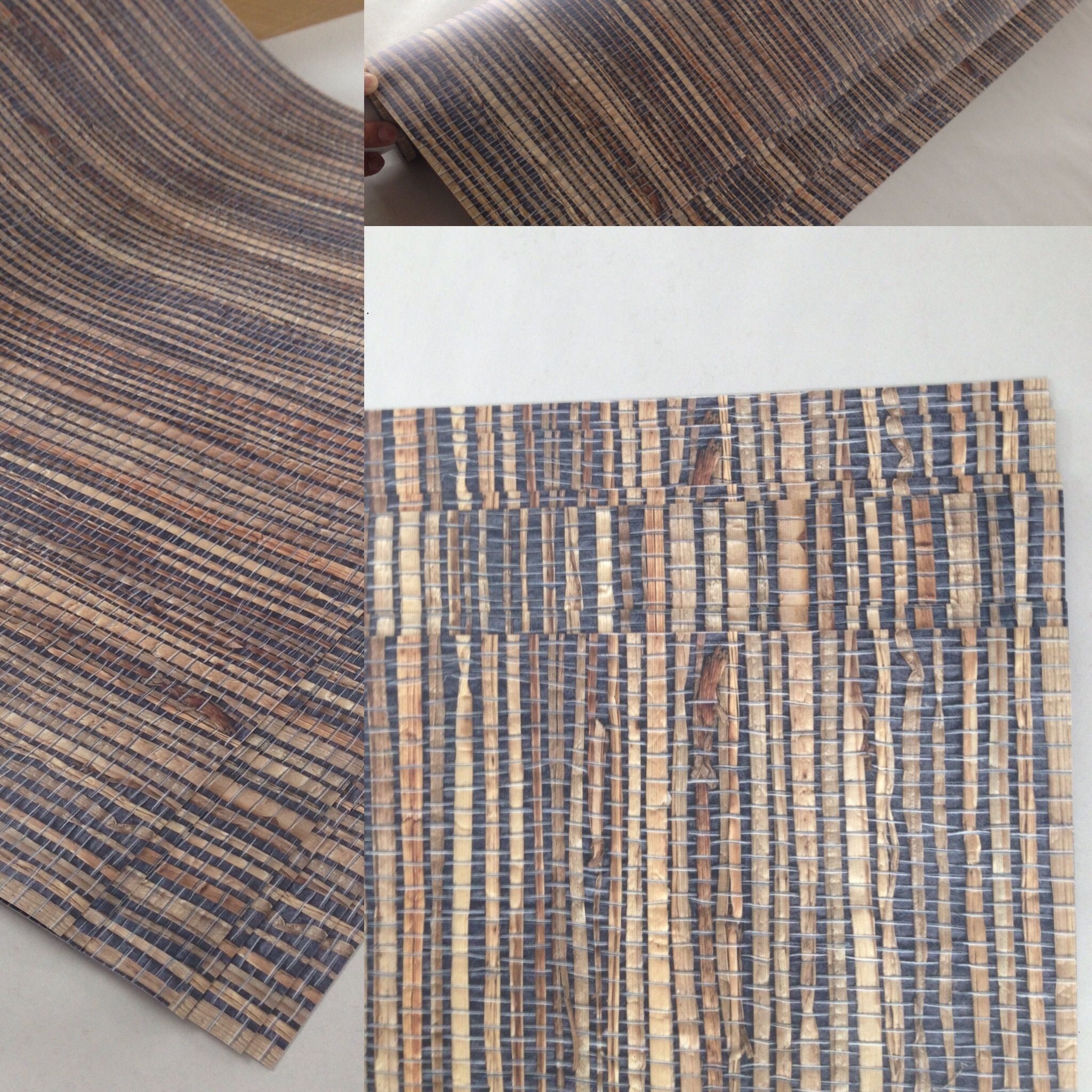 Grasscloth removable wallpaper, custom made by BC Magic