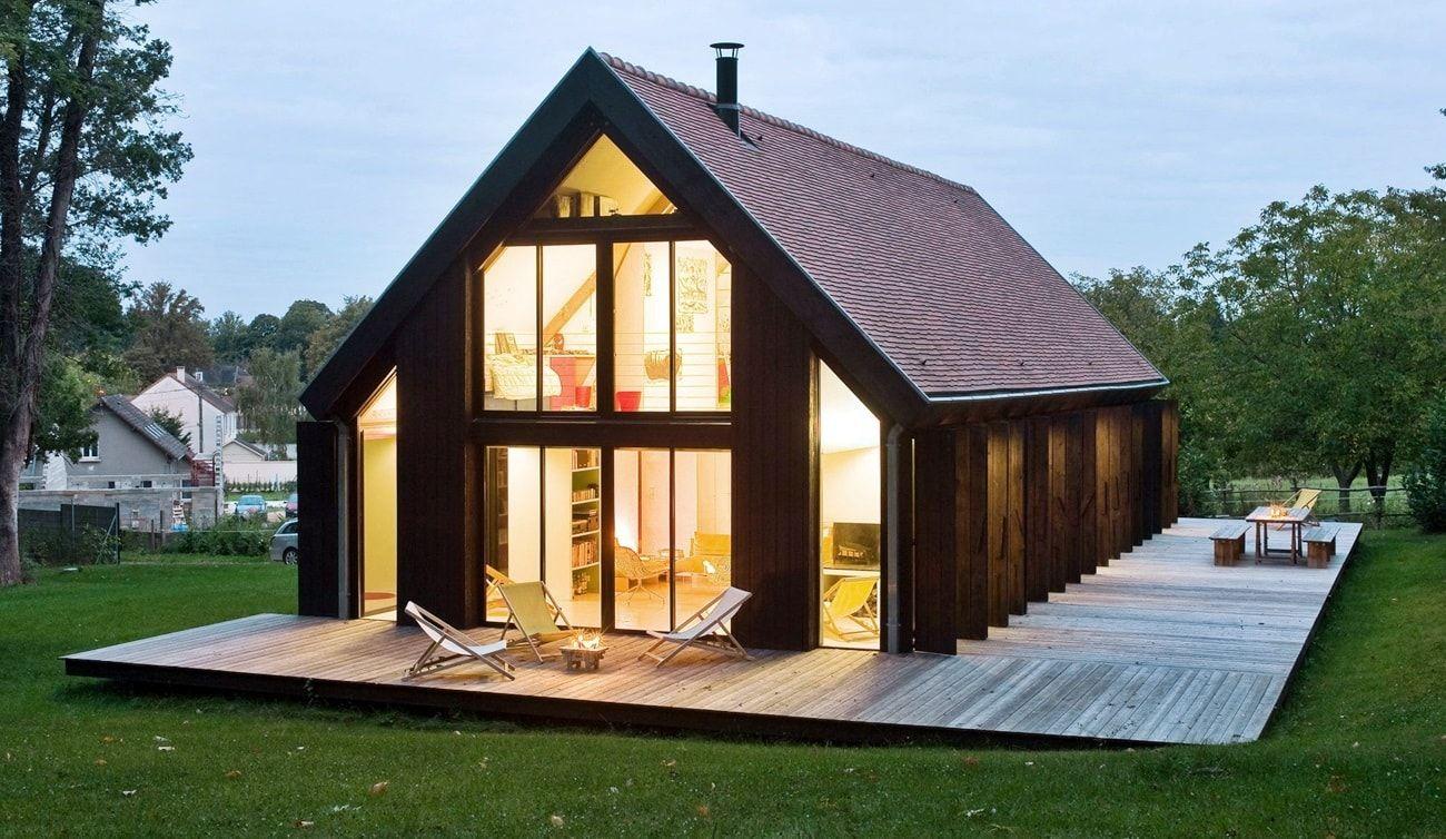 дизайн каркасных домов фото