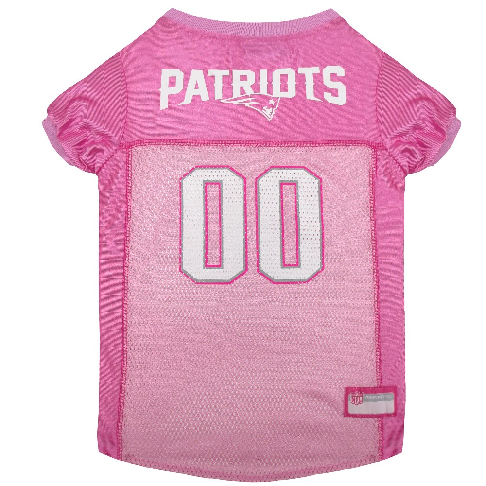 New England Patriots Pets First Pink Pet Football Jersey - Pink L ... 4131c5584