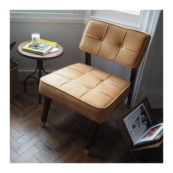 Nelly Lounge Chair, Velvet Upholstered, Teal
