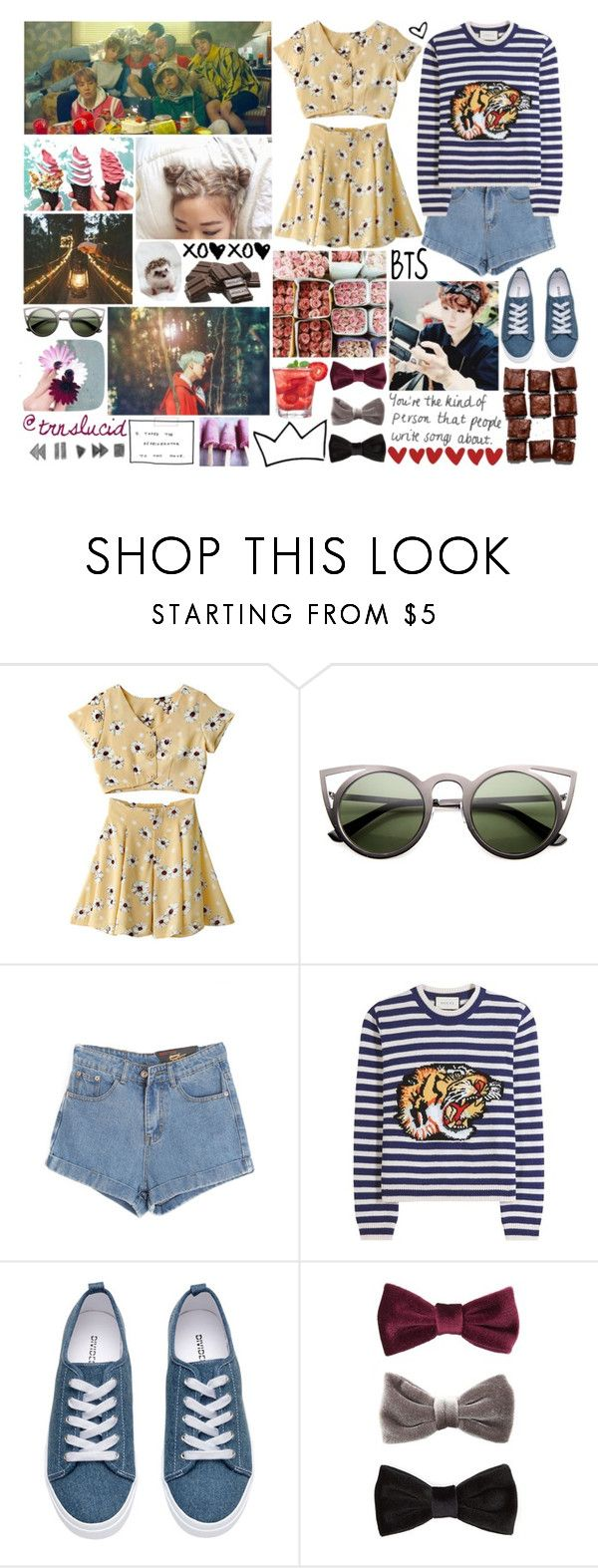 """""""@trnslucid!!"""" by kristinberchak ❤ liked on Polyvore featuring beauty, GET LOST, ZeroUV, Chicnova Fashion, Gucci and H&M"""