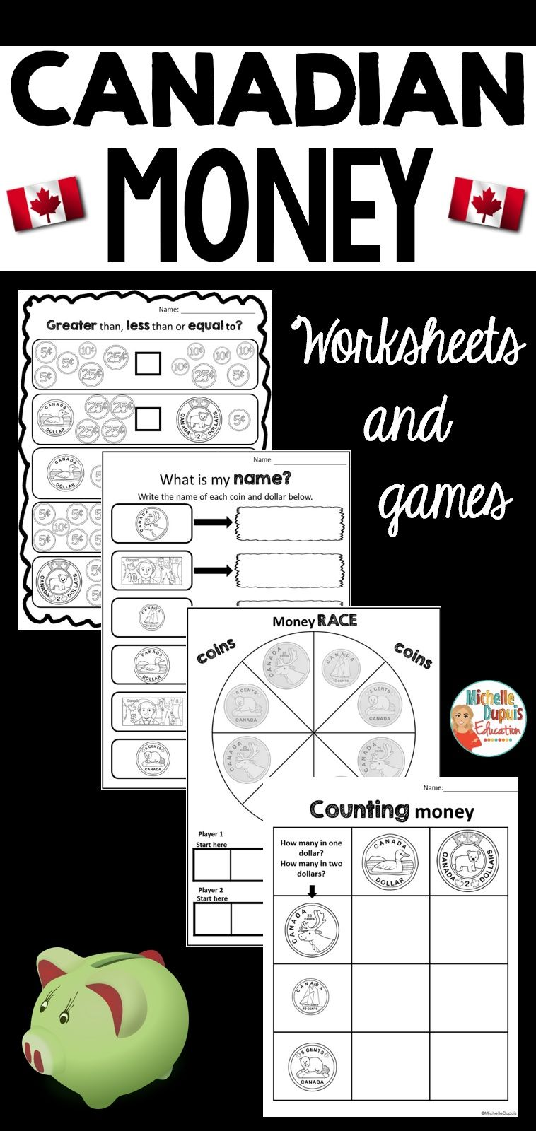 Canadian Money Worksheets And Games Canadian Money Money Worksheets Money Activities [ 1600 x 758 Pixel ]