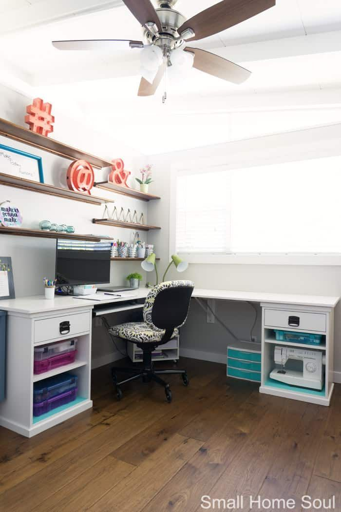 Office Makeover Reveal - One Room Challenge Week 6 | Pinterest