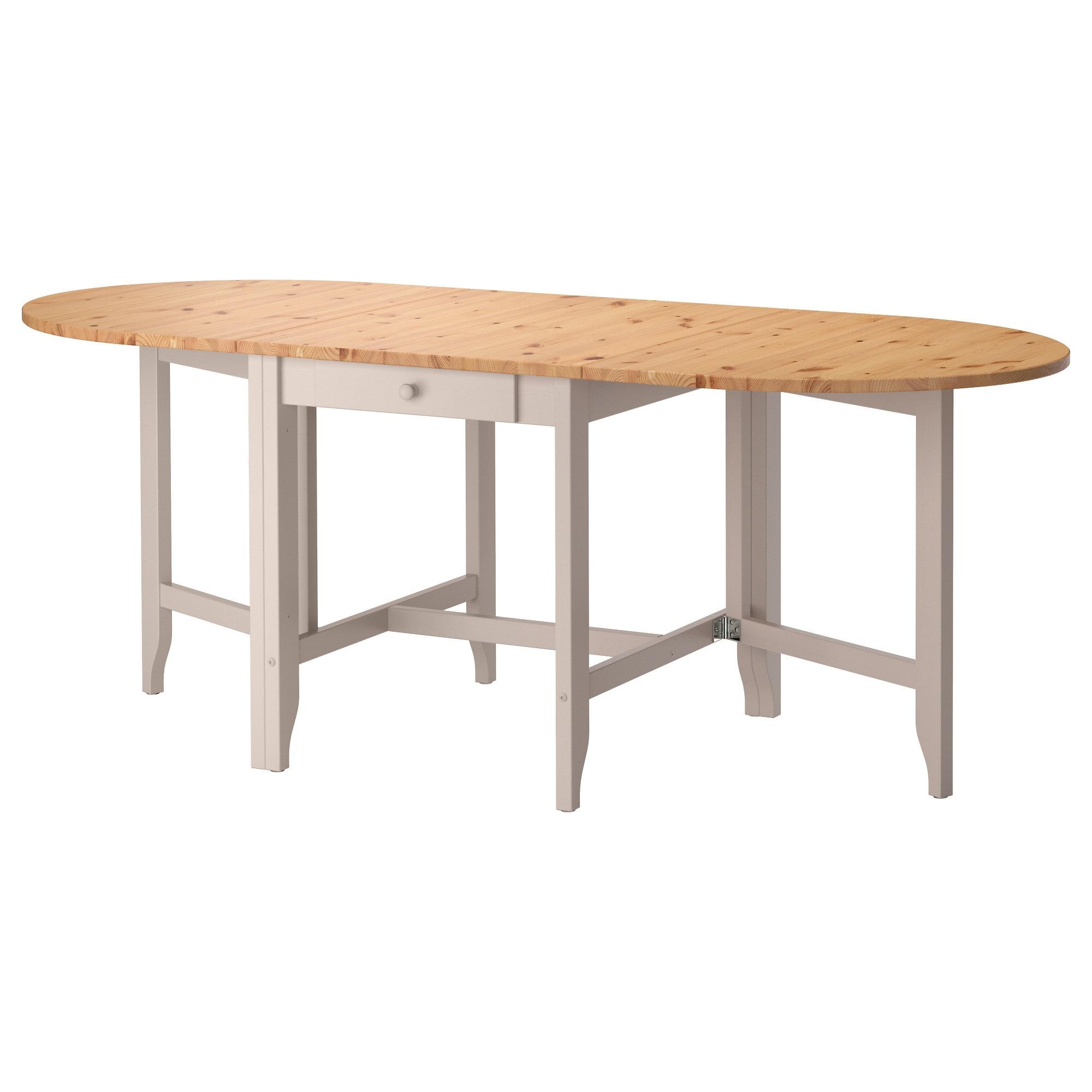 Ikea Gamleby Light Antique Stain Gray Gateleg Table