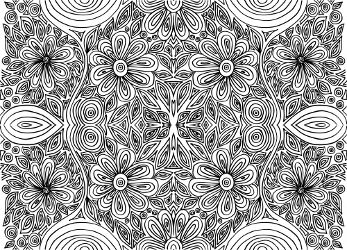 Doodle Coloring Page Intricate Flowers 1 Art therapy Doodles