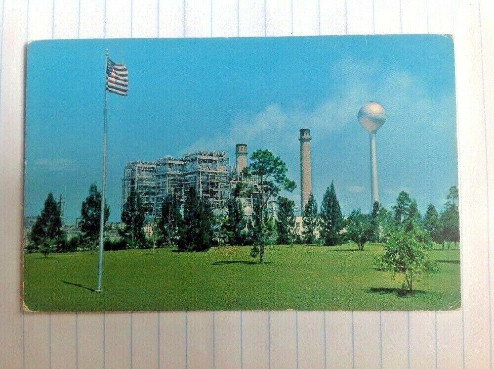 Cutler Power Plant Miami Florida Postcard Florida Power Light Demolished Miami Florida Postcard Power Plant