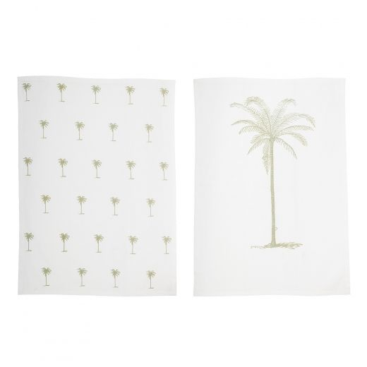 Home Features Palm Tree Kitchen Tea Towels, Set of 2 | Home ...