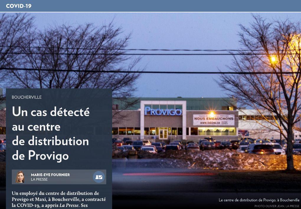 Un cas au centre de distribution de Provigo La Presse+