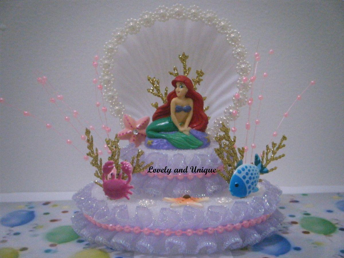 The Little Mermaid Cake Topper ariel theme Pinterest Mermaid cakes