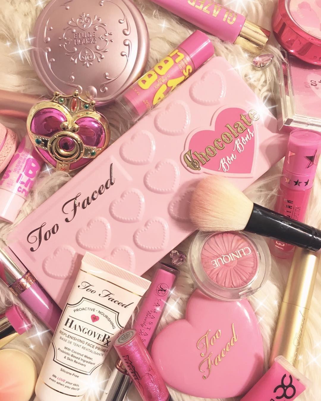 2kawaiitofunction Pink Cute Pink Pastel Kawaii Toofaced Ownyourpretty Sailormoon Clin Makeup Backgrounds Makeup Wallpapers Pastel Pink Aesthetic