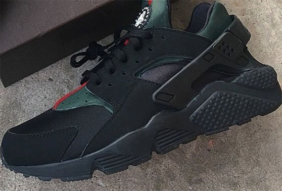 Luxury High End Inspired Nike Huarache Run Triple by NYCustoms