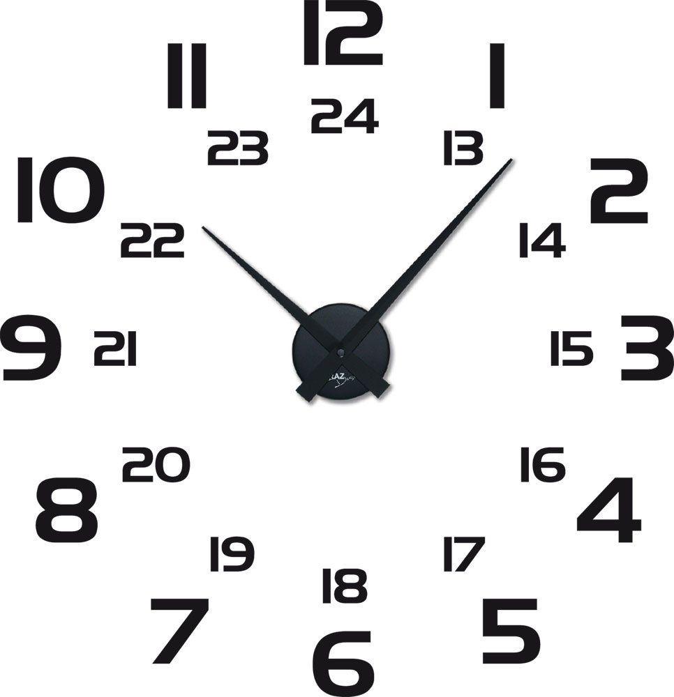 Amazon.de: Graz Design 800259_BK_070 Wandtattoo Uhr Mit Uhrwerk Wanduhr  Modern Zeitloser Style Mit