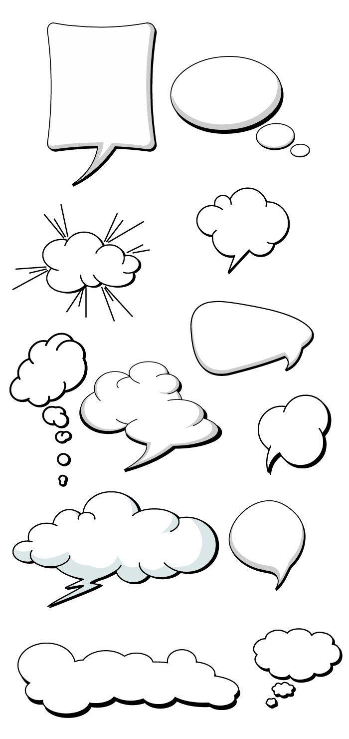 アメコミ風の吹き出しの無料イラスト | イラスト | pinterest | イラスト