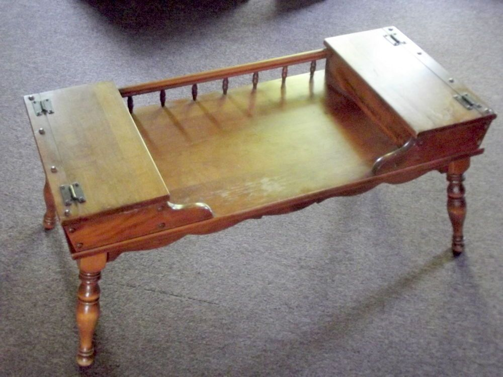 ethan allen coffee table Vintage Early American Ethan Allen Coffee Table Solid Maple  ethan allen coffee table