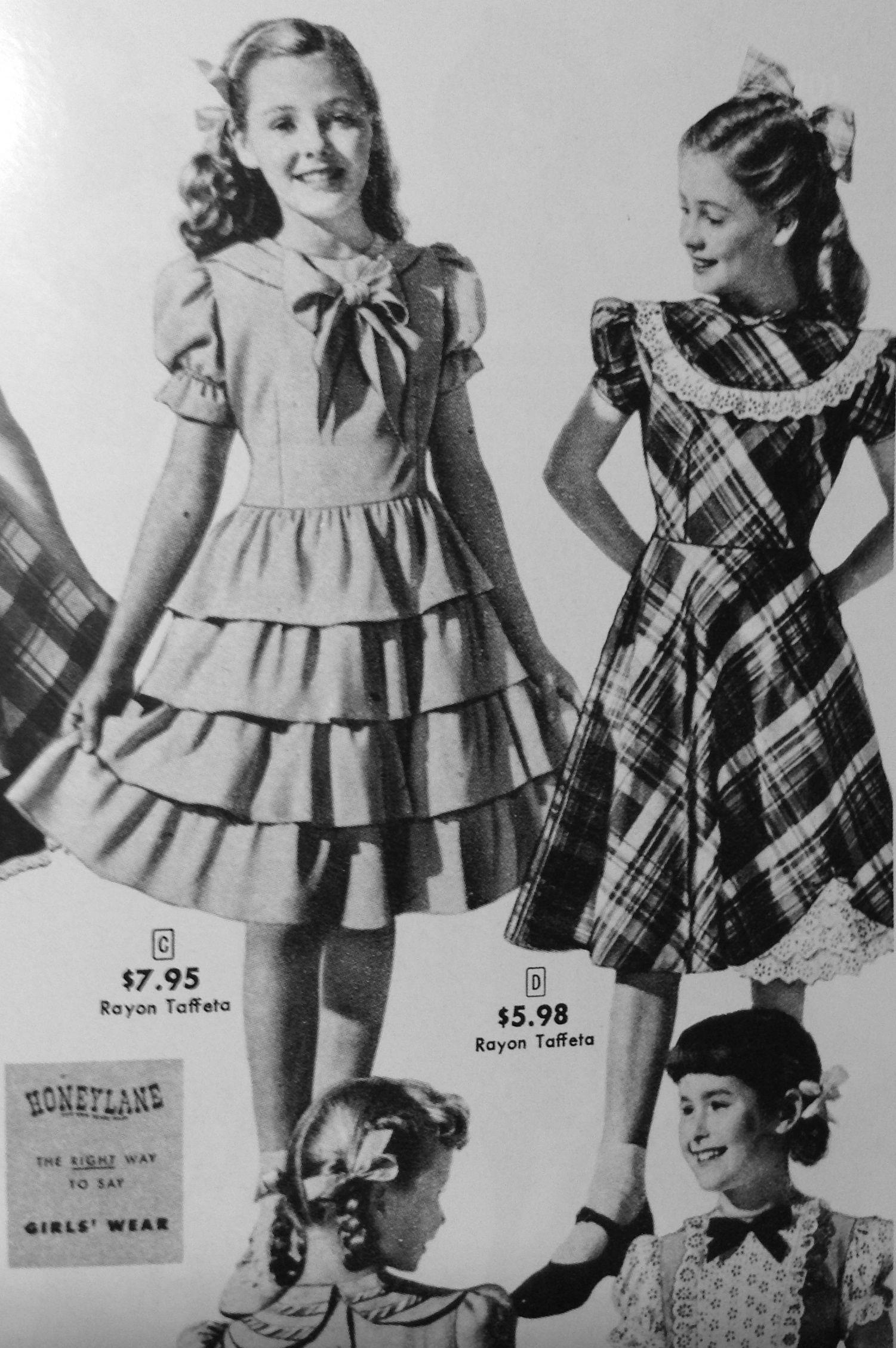 40s girls dress  Fern's fair dress