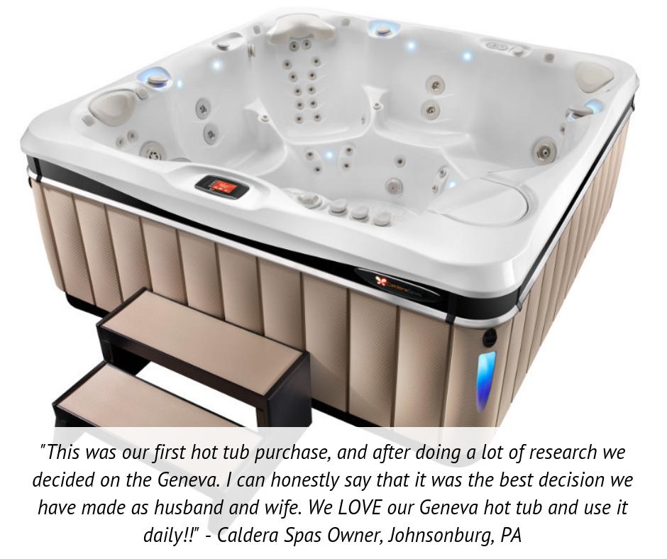 Geneva Six Person Hot Tub Reviews And Specs Caldera Spas Hot Tub Reviews Hot Tub Luxury Hot Tubs
