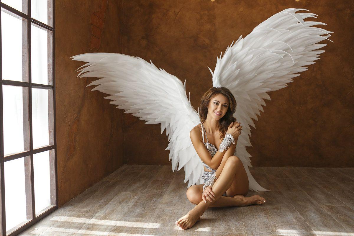 Девушка ангел с крыльями ангела картинки