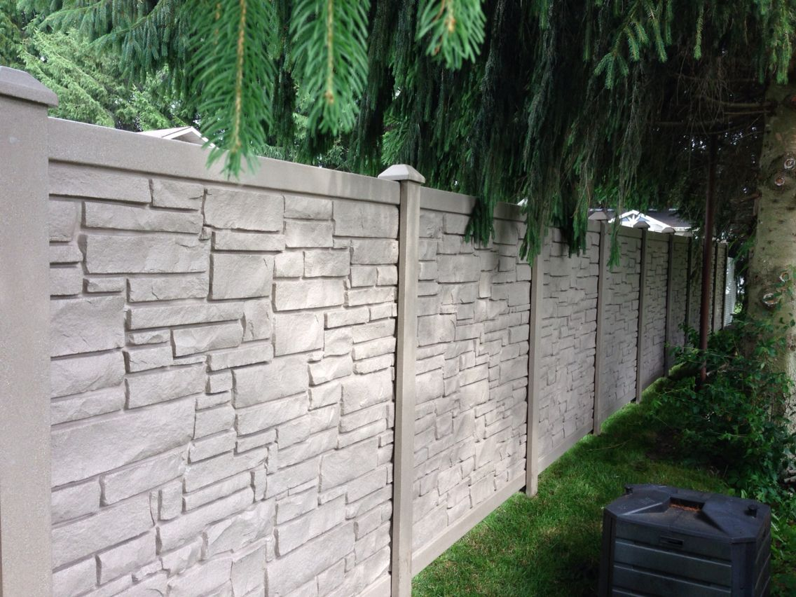 beautiful stone like simtek fence built by newfound land fence u0026 decks in embrun