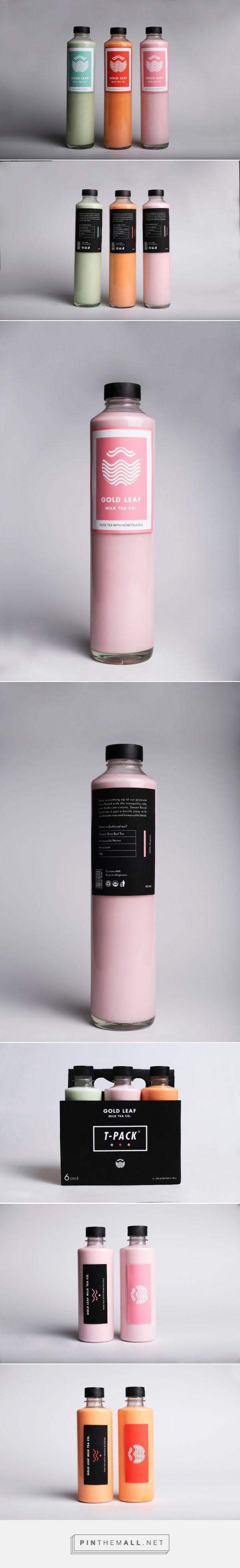 GoldLeaf Milk Tea Co. (Student Project) packaging design by Adam Heisig
