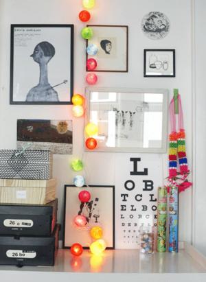 17 Best images about Idéer för använding av #lampbollar ... : barnrum ljusslinga : Barnrum