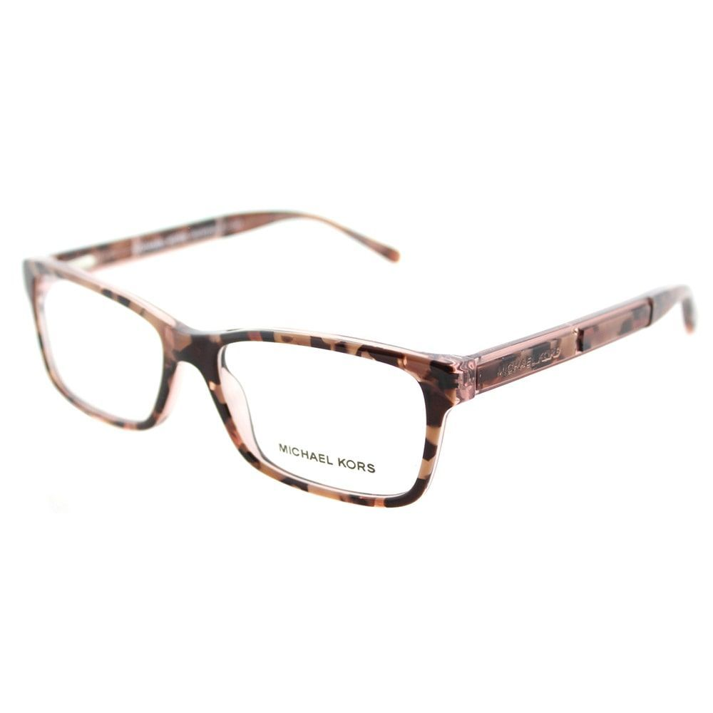 Michael Kors MK 4043 3251 Kya Pink Tort Graphic Rectangle Eyeglasses ...