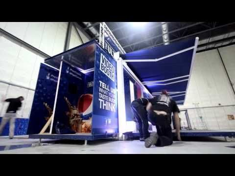 Dynamic experiential pop-up environment for Pepsi   Future Event