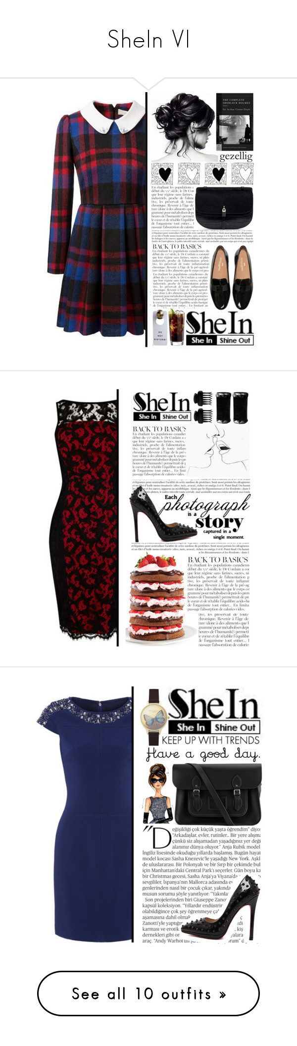 """SheIn VI"" by selmagorath ❤ liked on Polyvore featuring Sheinside, shein, Anja, Wilton, T3, Balmain, The Cambridge Satchel Company, Olivia Burton, Erdem and Del Gatto"