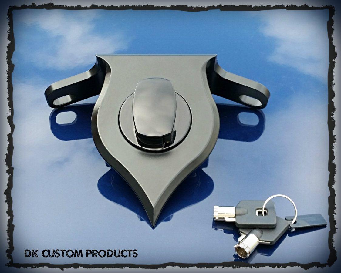 DK Custom Harley Sportster 07-Up Black DLX Billet Coil Relocation w ...