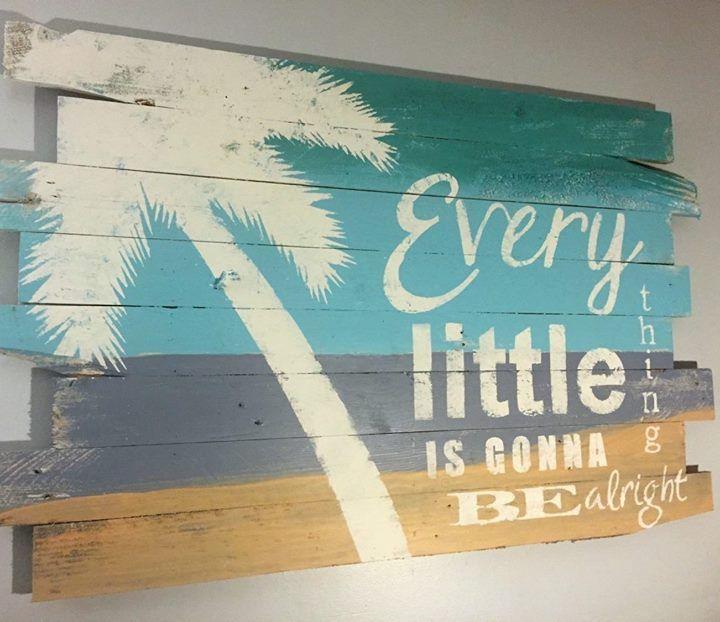 Beachy Paintings On Reclaimed Wood Beach Wall Decor