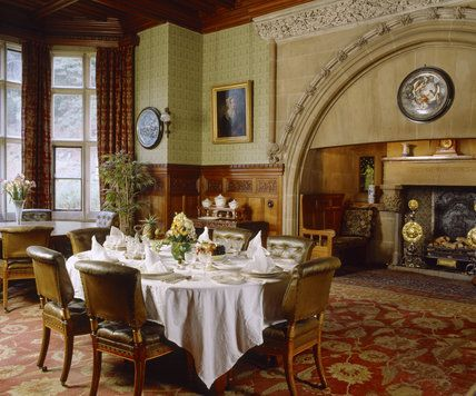 Historic English Country Style Dining Rooms | Dining Room Designed By  Norman Shaw In 1870