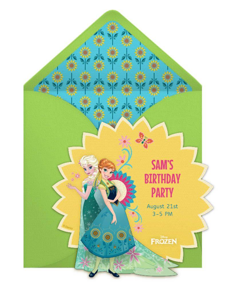 Eiskönigin Party Fieber Ausmalbilder : Frozen Fever Birthday Party Online Invitation Einladungskarten
