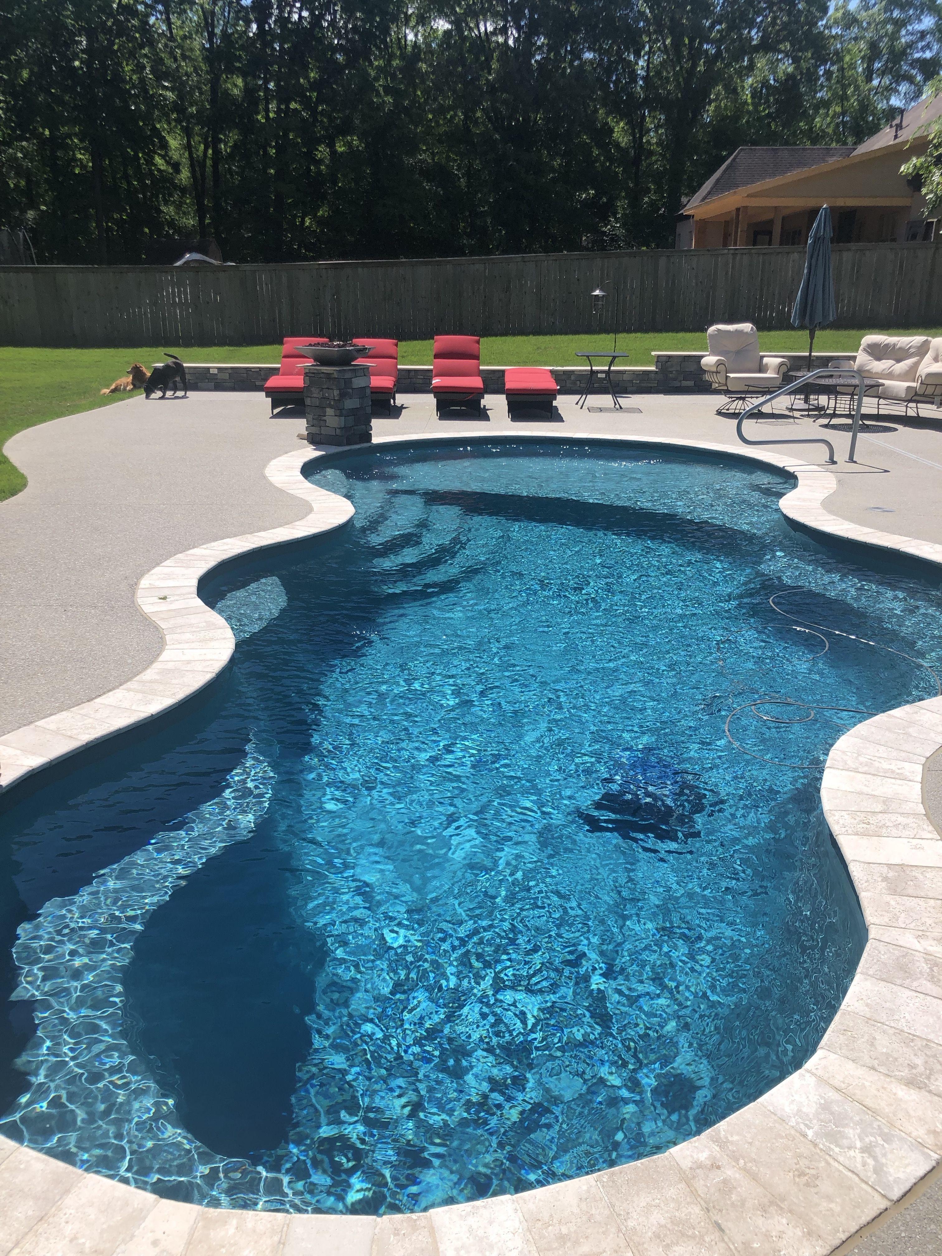 Trilogy Axiom Fiberglass Salt Water Pool Outdoor Oasistrilogy Axiom Fiberglass Salt Water Pool Dream Pool Bubbler In 2020 Pools Backyard Inground Saltwater Pool Pool