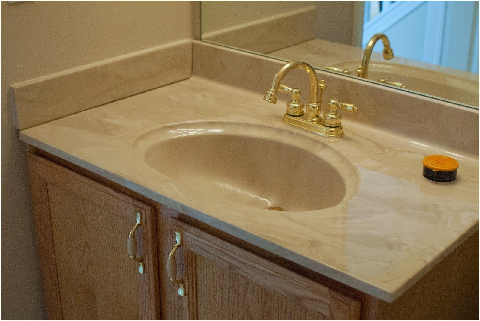 Remodelaholic Painted Bathroom Sink And Countertop Makeover From