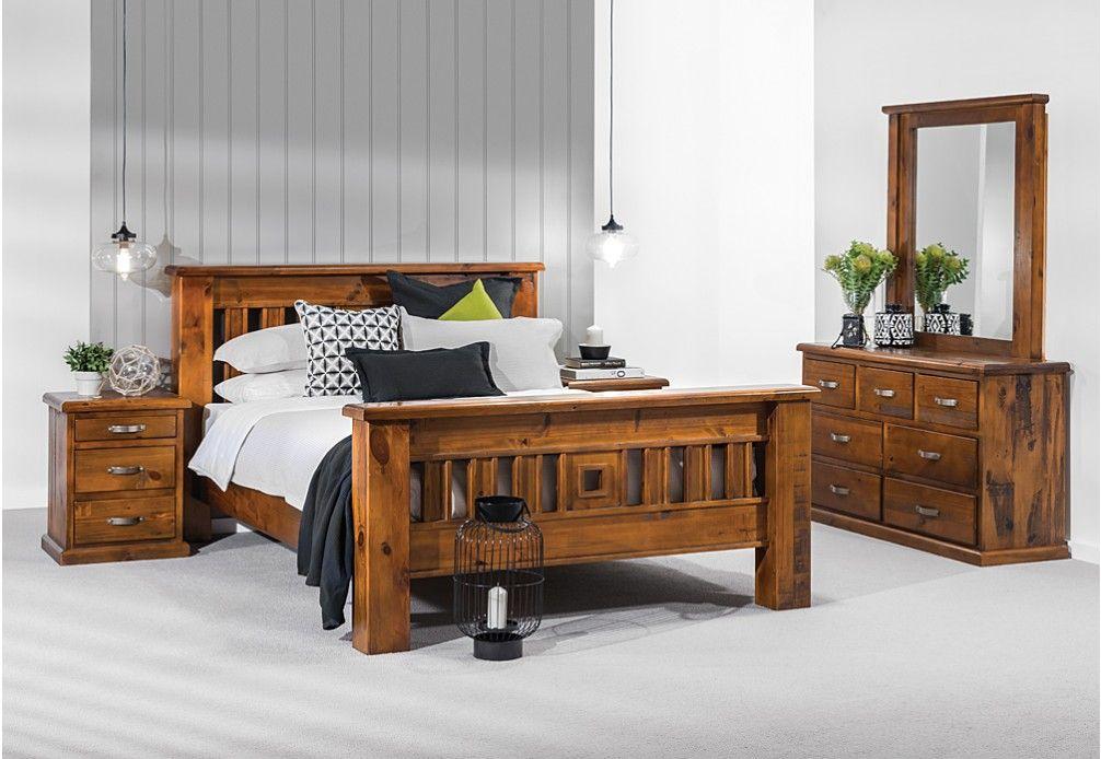 Our Bedroom Suite Settler Piece King Dresser With Mirror - Settler bedroom furniture