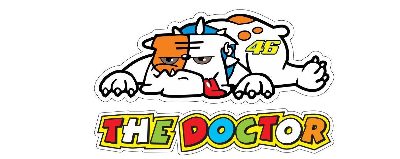 2x Valentino Rossi Bulldog Sticker Aufkleber Autocollant