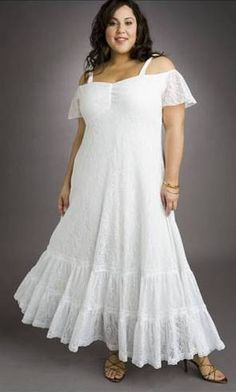 Summer white dresses for plus size dress