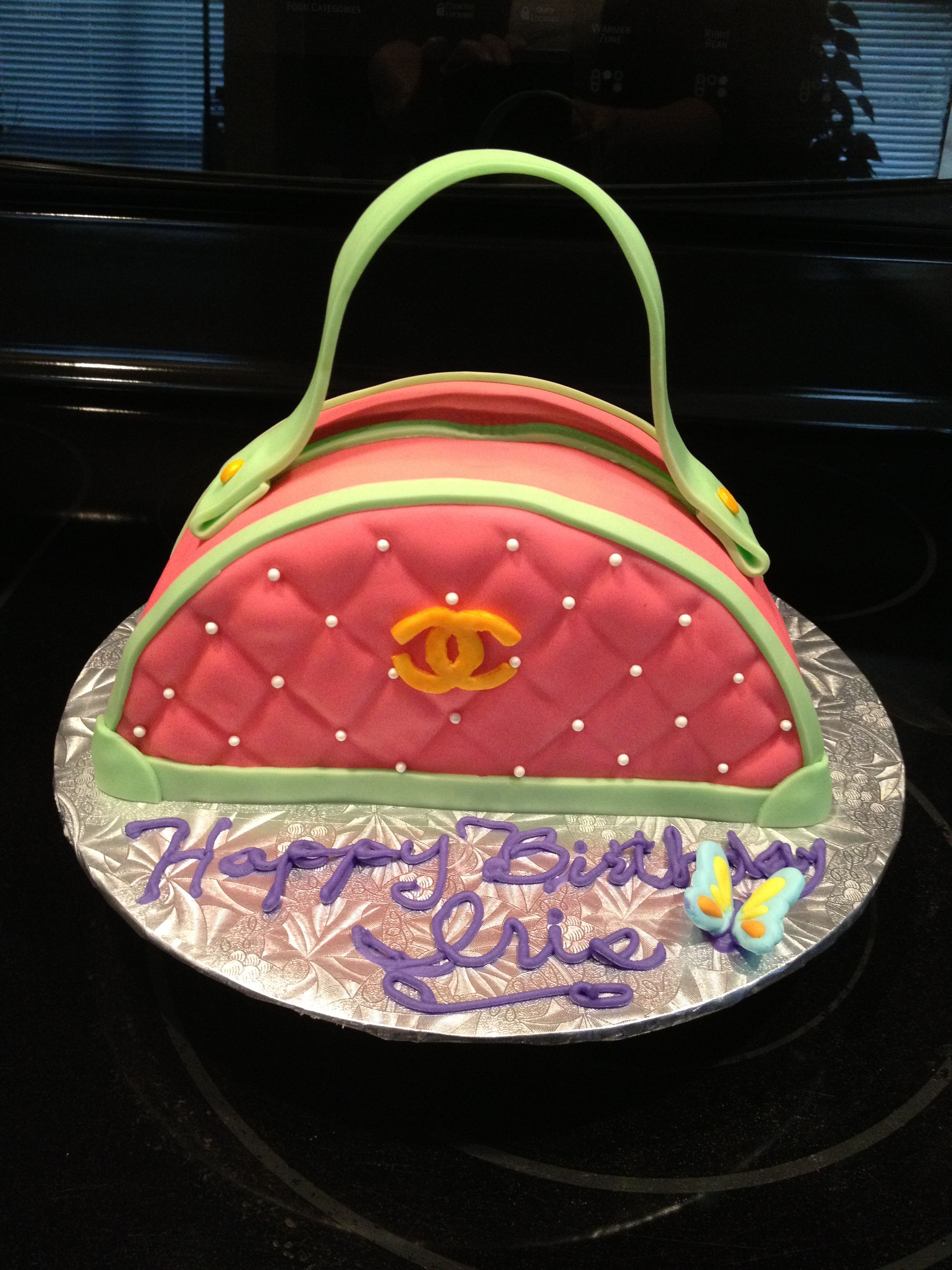 Purse birthday cake (With images) Personalized cakes