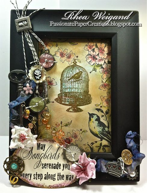 Passionate Paper Creations: Altered Happiness & Vintage Love