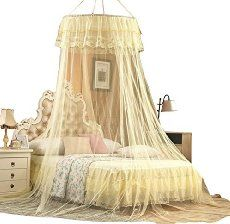 Double Bed Canopy mosquito net bed canopy, rusee lace dome netting bedding double