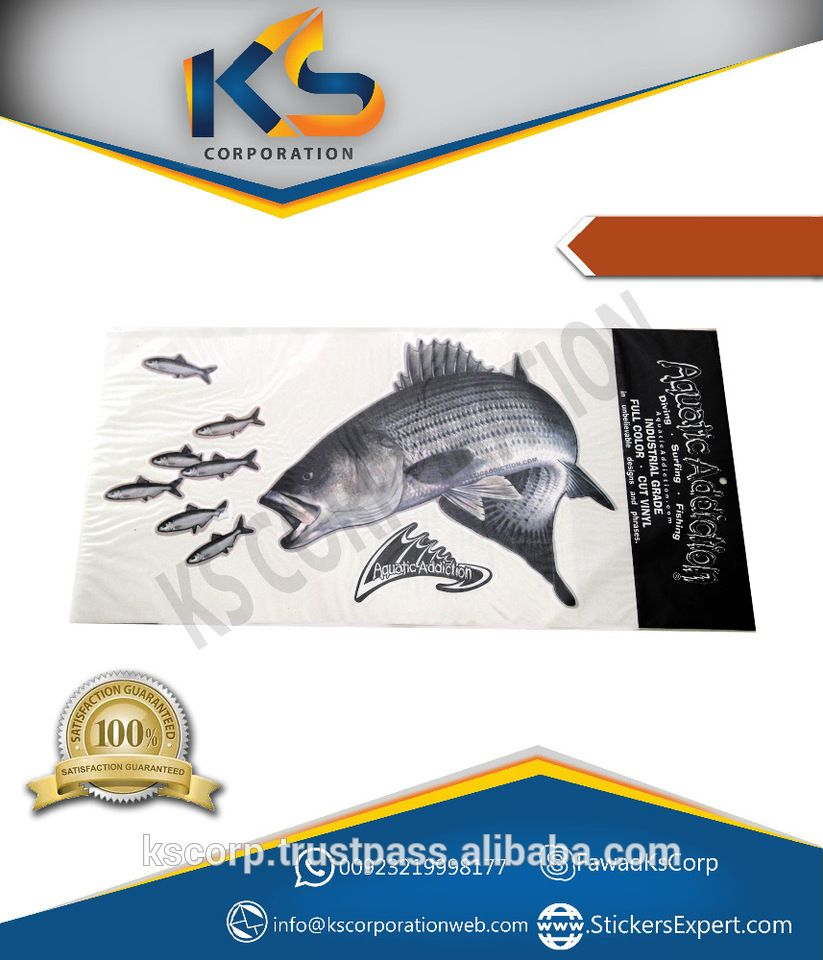 Custom Decorative Fishing Car Decal Die Cut Vinyl Stickers Hot - Custom die cut vinyl stickers cheap