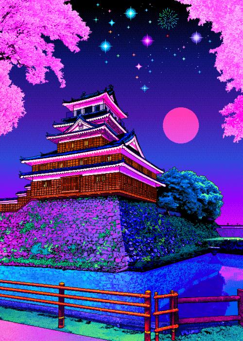 8bit Art And Pixel Art Image Vaporwave Wallpaper Vaporwave Scenery Wallpaper