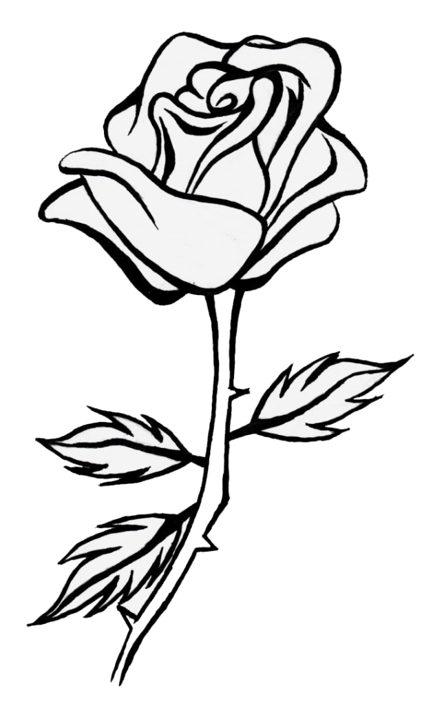 999 Flower Clipart Black And White Free Download Cloud Clipart Roses Drawing Flower Line Drawings Clipart Black And White