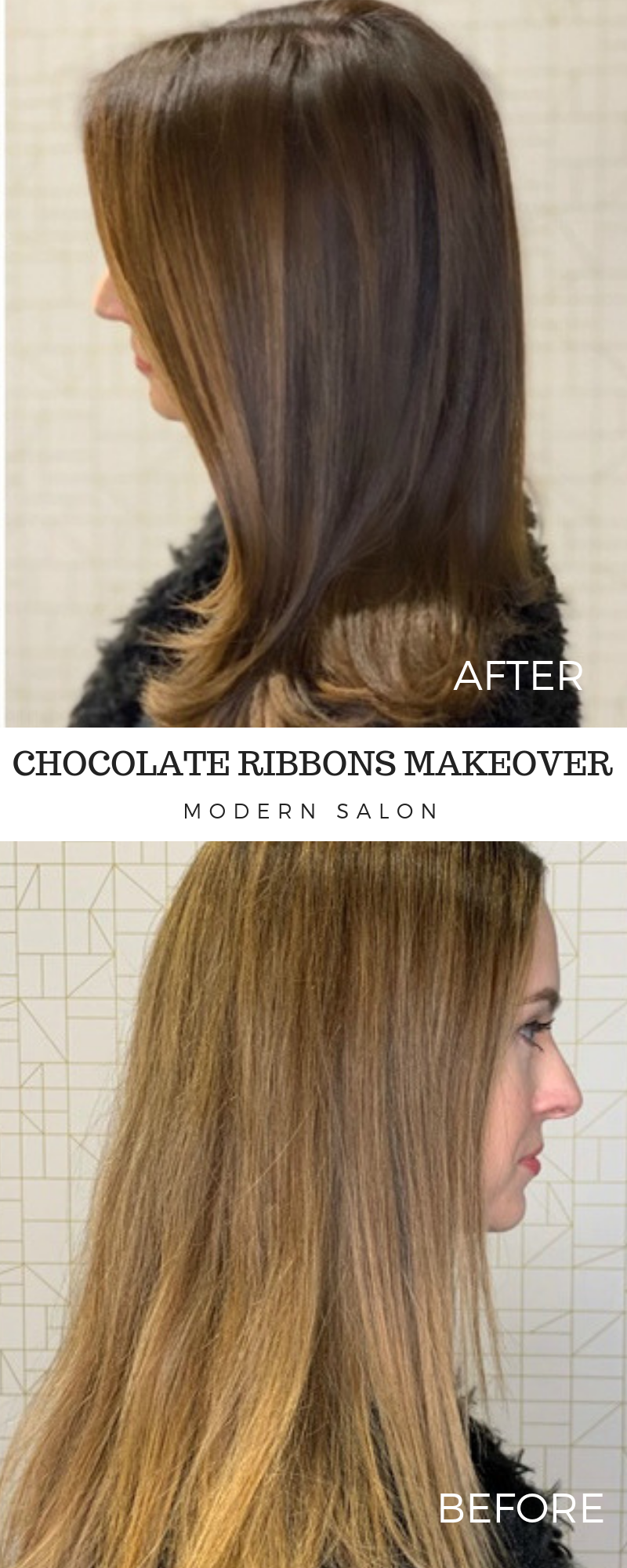 Color How To Faded Blonde Highlights To Rich Chocolate Brunette Ribbons Blonde Highlights Chocolate Brunette Hair Color
