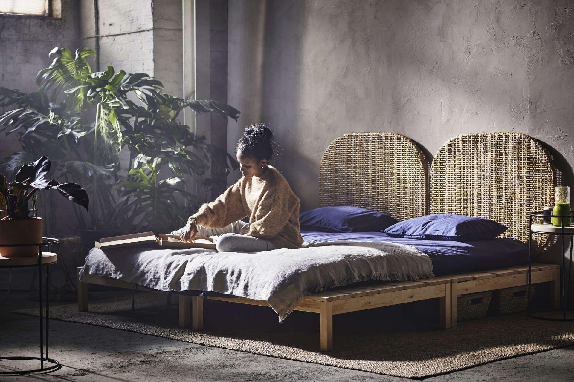 Ikea Hjartelig Kollektion Naturlich Wunderschon Ikea Plattform Bett Schlafzimmermobel