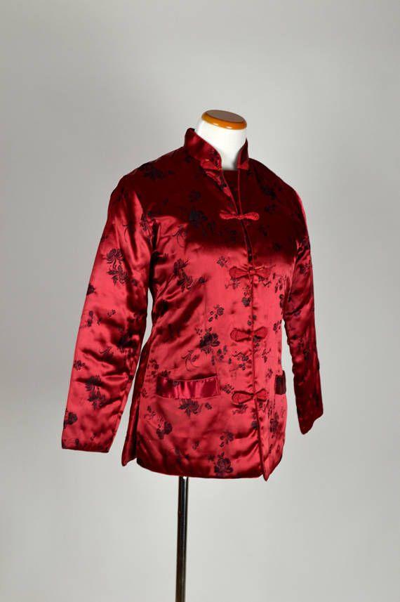 christmas jacket red jacket silk jacket asian jacket - Christmas Jackets