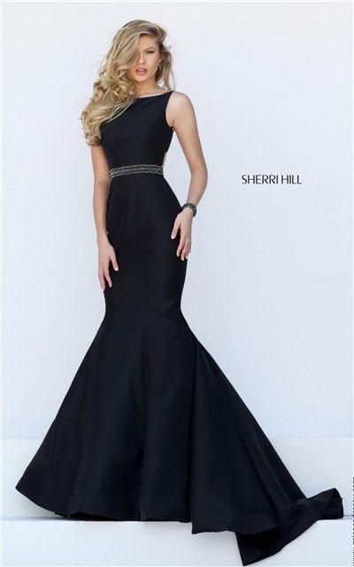 Black mermaid dresses cheap