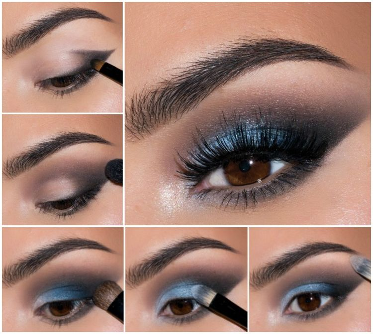 Schwarzes kleid welches make up